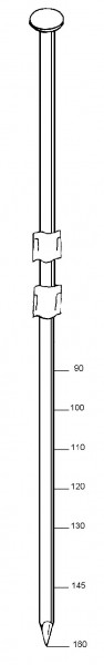 Streifennagel 3,8x130mm glatt/blank, 504297