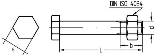 10 Stk Sechskantschraube /& Mutter DIN 601 M14 x 80 verzinkt