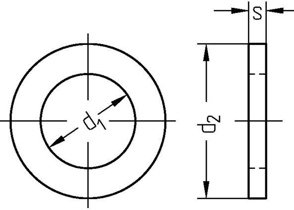 U-Scheibe DIN 1052 verz. 14,0x58x6,0mm