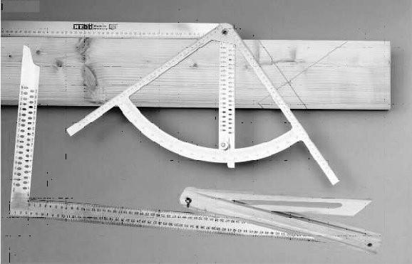 Meß-Set Alpha-Anreißgerät,  Edelstahl, Länge 800mm, Buchenholzschmiege 500mm