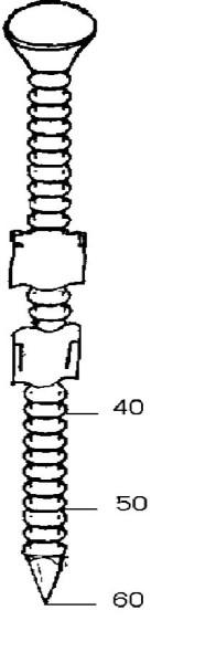 Rillennägel in Streifen 4,0x60mm verz.  504164