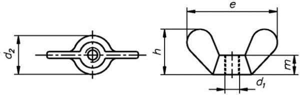 Flügelmutter DIN 315 M08 verz.