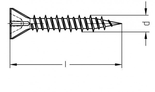 Schnellbauschraube 3,9x55mm Gipskarton