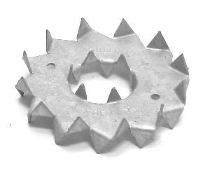 Bulldog D075mm, beidseitig verzinkt - Einzelabnahme