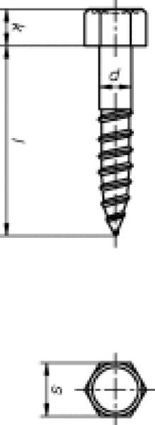 Eternitschrauben galv. verzinkt. 7,0x150