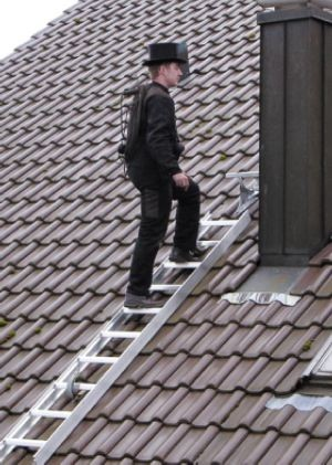 Dachleiter, Braun, Länge 2,80 m