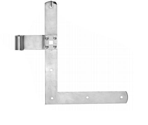 Fensterladen Winkelband 250x300mm  hell verzinkt